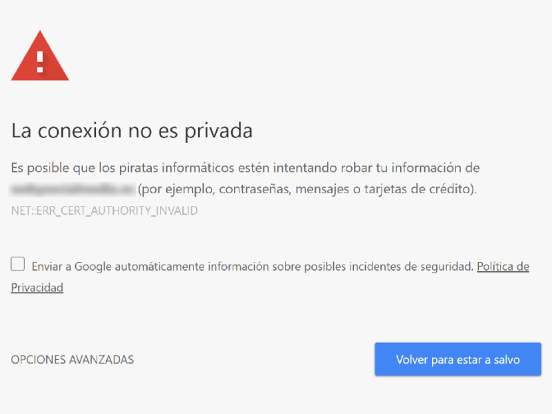 consecuencias no implementar certificado ssl