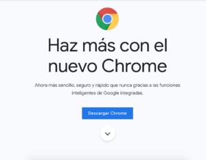 Actualización nuevo Google Chrome