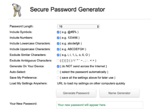 Secure Password Generator Web