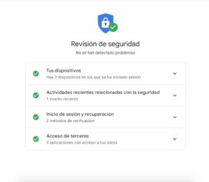 Revisión de seguridad cuenta Gmail