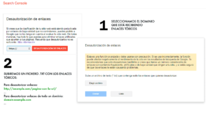 backlinks tóxicos Google search console